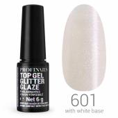 Profinails Top Gél Glitter Glaze  LED/UV  6g No. 601