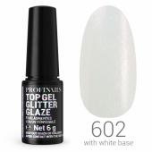Profinails Top Gél Glitter Glaze  LED/UV 6g No. 602