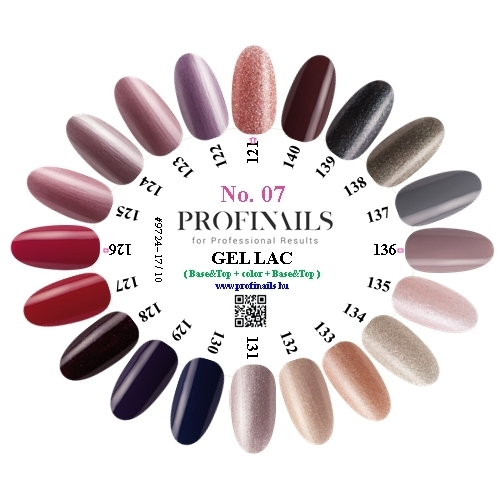 Farebnica Profinails Gel Lac LED/UV No.7 (121-140)